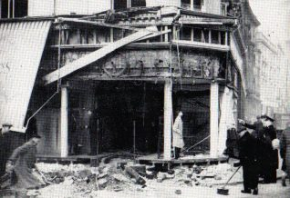 Photo of Hanningtons after the bombing in 1940 | From the private collection of Peter Groves