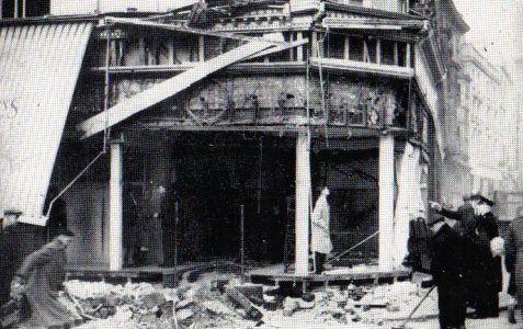 The bombing of the Royal Pavilion