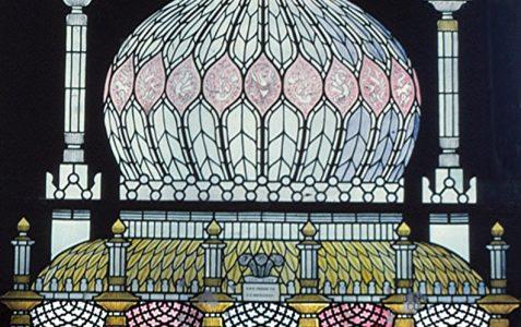 Imitation stained glass window 1951