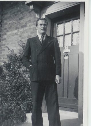 Harry Page in his demob suit | From the private collection of Vernon Page