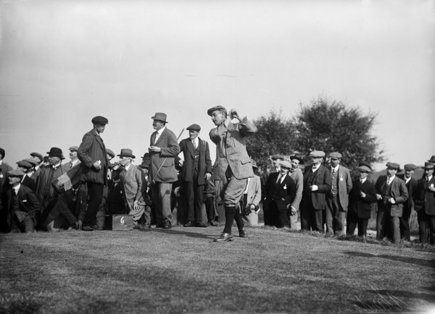 Vardon driving watched by Ray