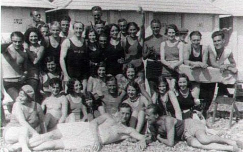 A fun day out on Brighton beach, June 1930