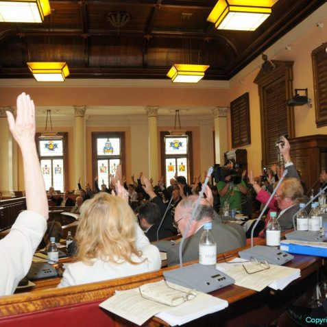 A unanimous vote of agreement from the councillors | Photo by Tony Mould