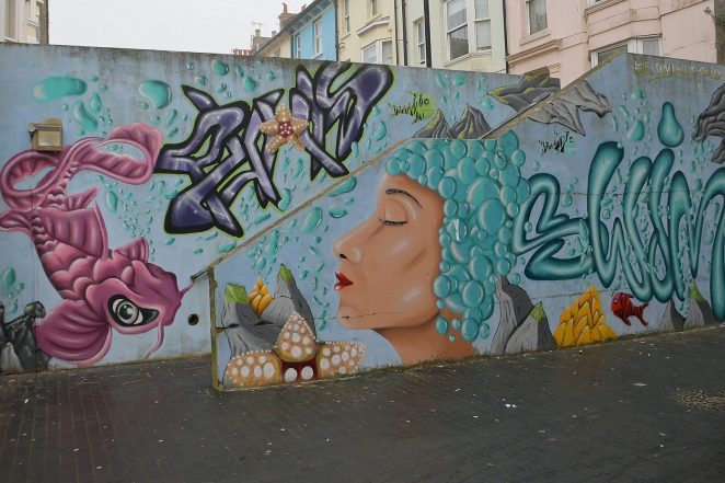 North Place graffiti | ©Tony Mould: click on image to open a large version in a new window