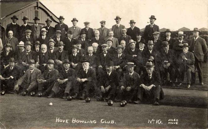 Hove Bowling Club | Photograph by Wiles of Hove: from the private collection of David Ransom