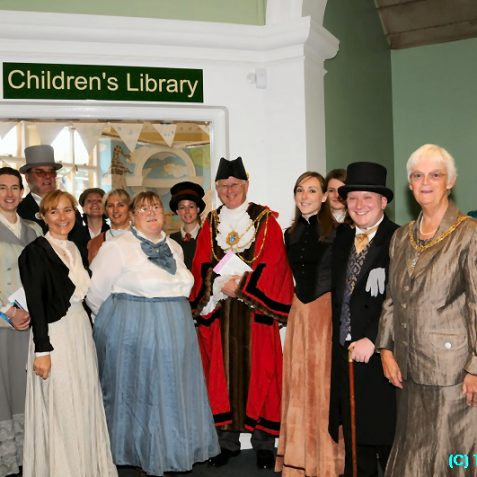 The Mayor and Mayoress with the staff in Edwardian costume | Photo by Tony Mould
