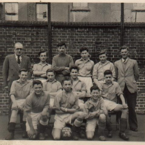 The Hove Manor (Connaught Road) School Football Team. 1953 | From the private collection of Keith Upward