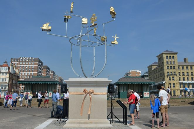 Hove Plinth featuring 'Constellation' by Jonathan Wright | ©Photo by Tony Mould