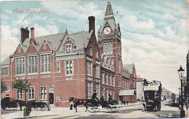 Postcard of Hove Town Hall: dated Sept 27 1907 | From the personal collection of Gordon Muggeridge