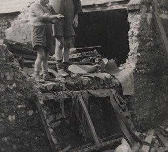 Kids in the backyard c1950s