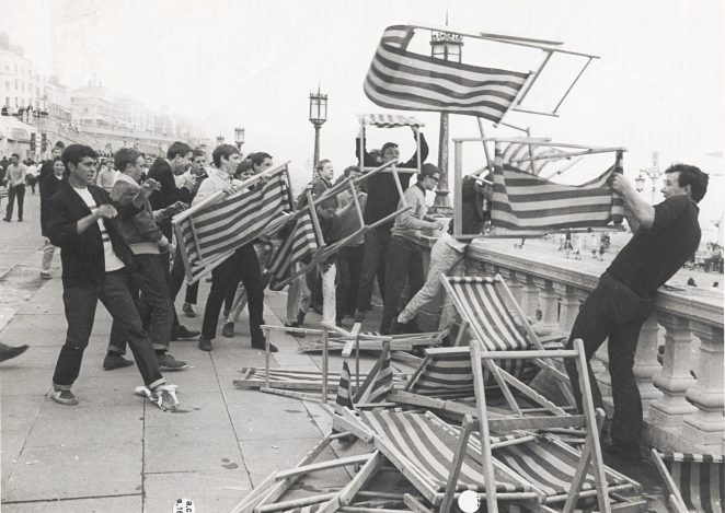 Mods causing mayhem in 1967   Royal Pavilion and Museums Brighton