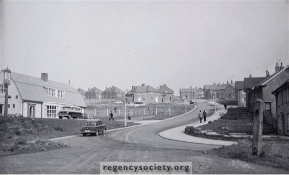 Hangleton in 1958 | Image reproduced with kind permission of The Regency Society and The James Gray Collection
