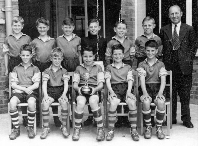 Hertford Road School Soccer Team c1954 | From the private collection of Peter Whitcomb