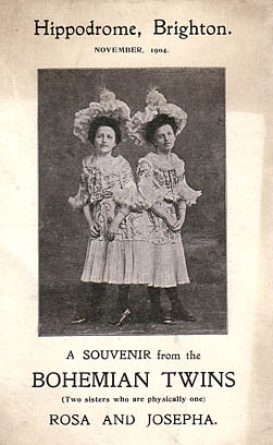 Souvenir from the 'Bohemian Twins' at the Hippodrome, Middle Street, November 1904 | Picture reproduced with permission from Brighton History Centre