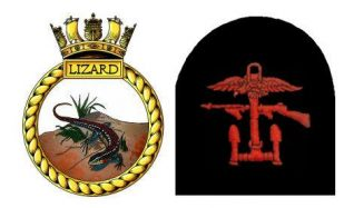 Ship's Badge (unofficial design) and Combined Operations uniform insignia | Artwork: Tony Drury