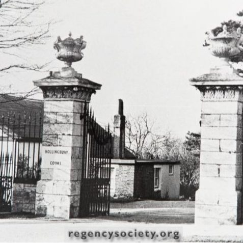 Hollingbury Court School:front gates prior to demolition c19622 | Image reproduced with kind permission of The Regency Society and The James Gray Collection
