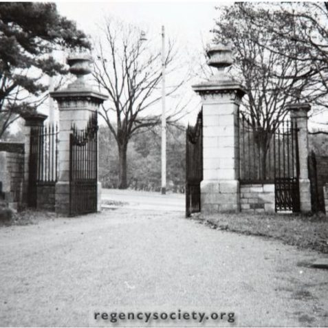 Hollingbury Court School:view from inside front gates prior to demolition c1962 | Image reproduced with kind permission of The Regency Society and The James Gray Collection