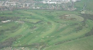 2013 Aerial View of the course: click to open a large version | Private collection John Knight