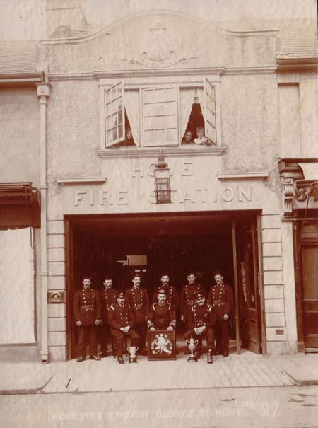 Hove Fire Station, George Street in 1910 | Image reproduced with permission from Brighton History Centre