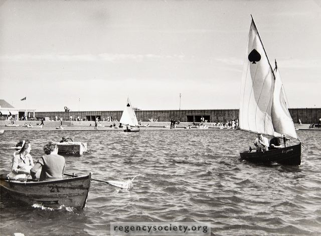 Hove Lagoon photographed in the late 1960s | Image reproduced with kind permission of The Regency Society and The James Gray Collection