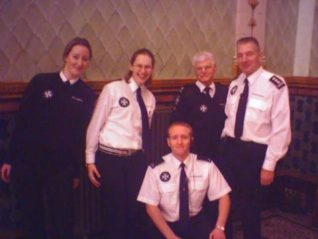 At the Dome Theatre 2004. back row: Esther, Lyndsay, Simon, Terry. front: Darren | Photo by Arran Pawson