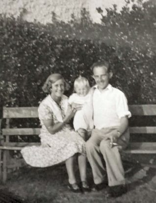 Me at eighteen months old with my Mum and Dad | From the private collection of John Starley