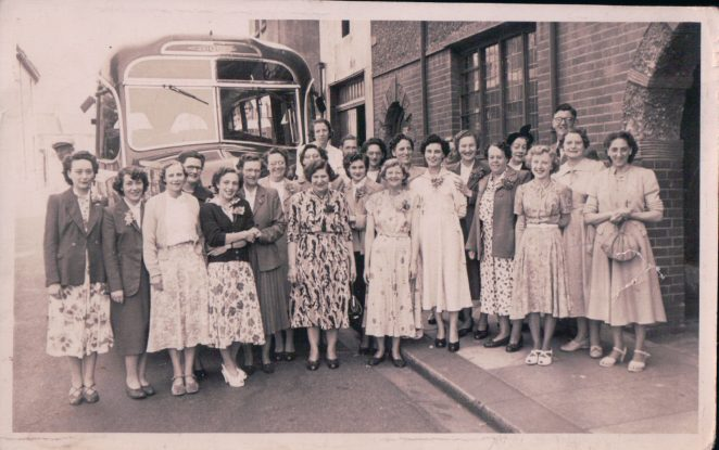 Workers outing, photographed outside old St Barnabas Church Hall | From the private collection of Terry Hyde