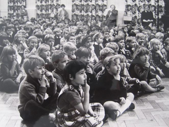 Carden School assembly; click on image to open a large image | From the private collection of Jill Burt