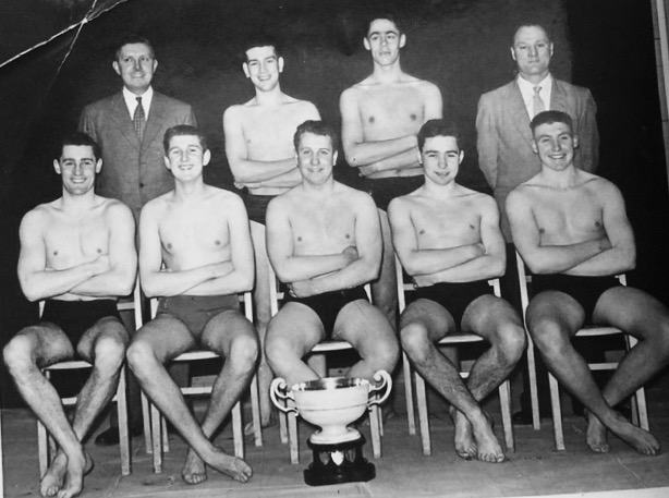 1956 All England Waterpolo champions | From the personal collection of
