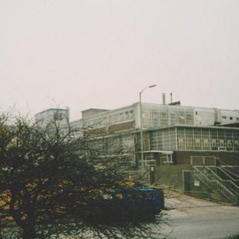 The ITT Creed Factory, c.1985   Photo by Hugh Fermer, now in the private collection of Peter Groves