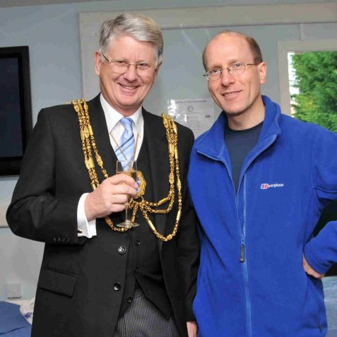 The Mayor with local author and staunch Seagulls fan Tim Carder | Photo by Tony Mould