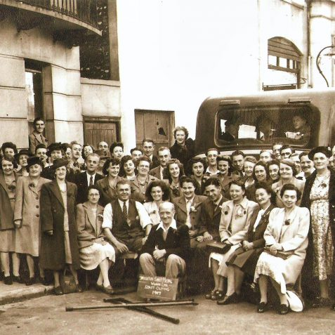 Brighton Sheet Metal works outing 1947: click on image to open a large view in a new window | From the company archives