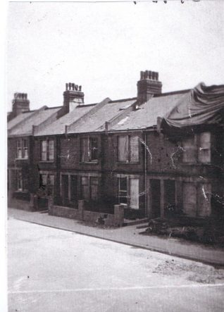 Bomb damage in Bennett Road | From the personal collection of Mick Peirson