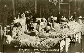Indian army wounded at Brighton pavilion 1915 | From the private collection of Tony Drury