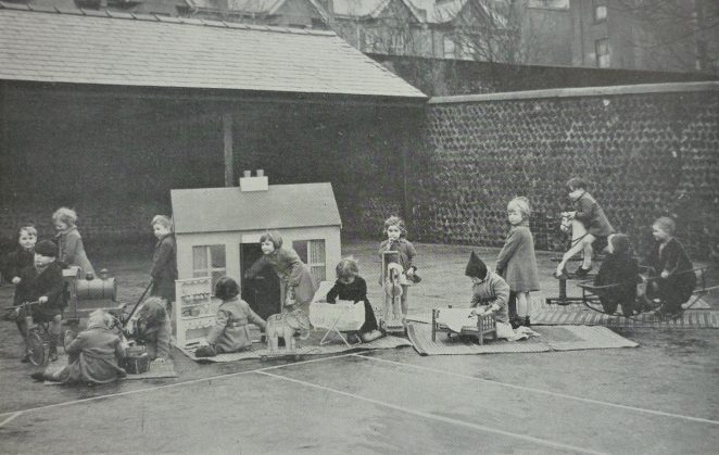 Infants at play, somewhere in Brighton? | From the Education Week booklet in the private collection of Peter Groves