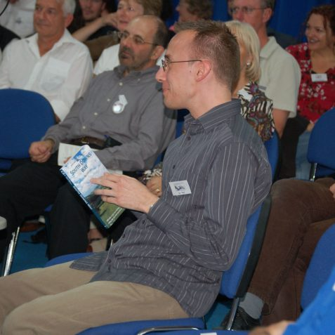 Software wizard Ian Grant was thanked and presented with a book on walks - to try to tease him away from his computer! | Photo by Tony Mould