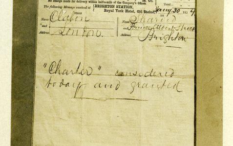 First charter 1854
