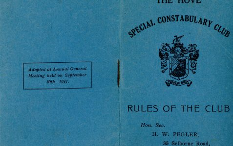 The Hove Special Constabulary Club