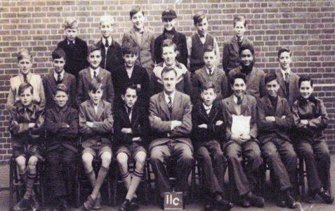 Mr Bert White with Class IIC 1956