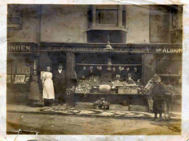 Albion Fruit and Veg shop | From the private collection of Dennis Parrett