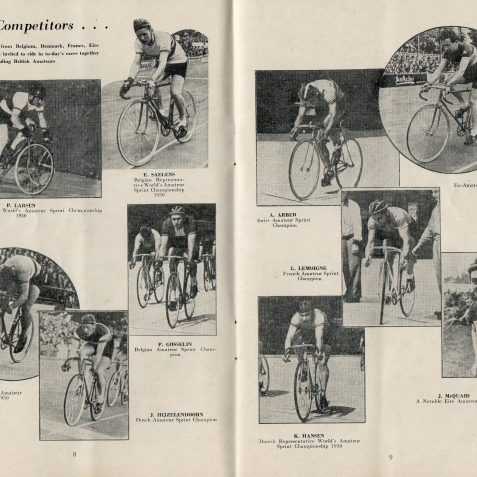 Cycling racing at Preston Park | From the private collection of Mick Deacon