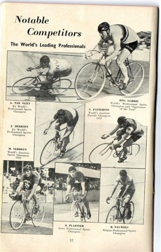 Famous cyclists: click on image to open a large image in a new window | From the private collection of Mick Deacon