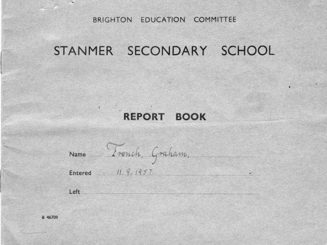 Stanmer Secondary School Report Book | From the private collection of Graham French