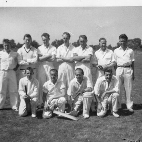 Cricket team | From the private collection of Jennifer Tonks nee Smith