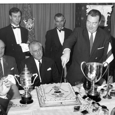 Brighton Tigers Johnny Carlyle cutting the cake after winning the Cobley Cup | From the private collection of Gary Carlyle