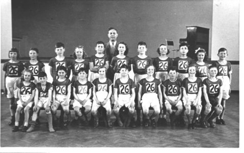 School sports teams circa early 1950s