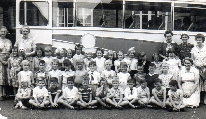 Children from St Peter's on a trip to Small Dole 1959 | From the private collection of Sally Merrett