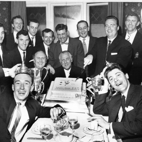 Tim Wiltshire,Ray Wilstonholm, Harry Pearson, Les Lovell, Ray Partridge , George Baillie, Freddy Kent, Johnny Carlyle, Mike O'Brien, Alan Weeks, Benny Lee, Jackie Dryburgh & Roy Harnett of the Brighton Tigers | From the private collection of Gary Carlyle
