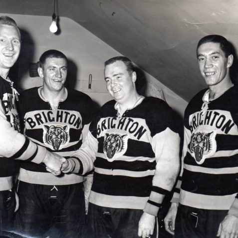 Red Kurz, John Yanchuk, Johnny Carlyle & Bob Braganola | From the private collection of Gary Carlyle