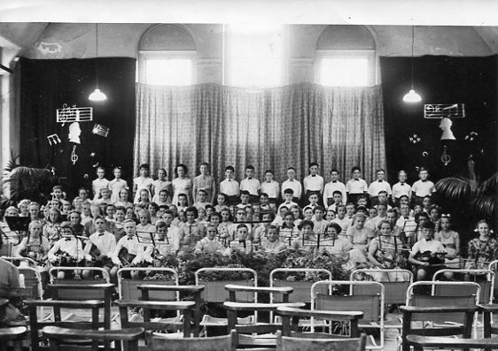 Orchestra and Choir Circa 1954/55 | From the private collection of Peter Haden